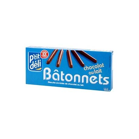 Biscuits P'tit Déli Bâtonnets Chocolat 150g