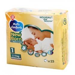 Change bébé Mots d'Enfants Nouveau né - T1 - 2/5kg - x23