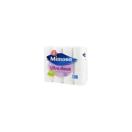 Papier toilette Mimosa Blanc - Ultra doux - x24